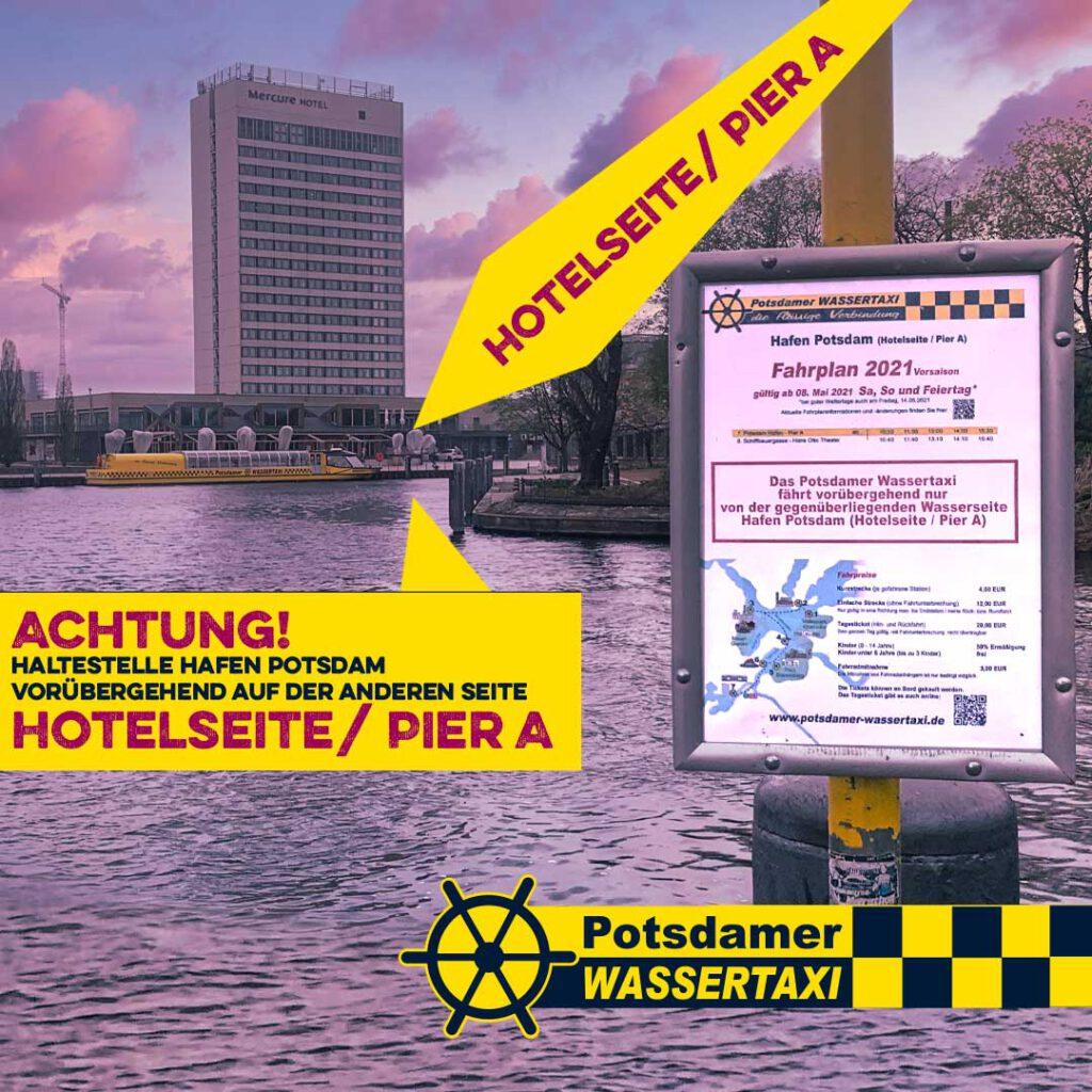 Haltestelle Potsdamer WASSERTAXI in Hafen