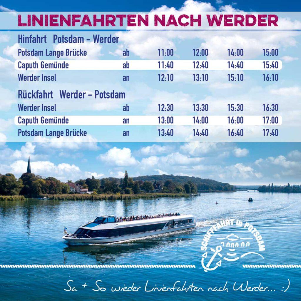 Linienfahrten nach Werder
