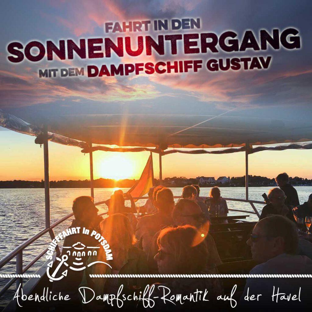"""Abendliche Dampfschiff-Romantik auf der Havel mit dem nostalgischen Dampfer """"GUSTAV"""""""